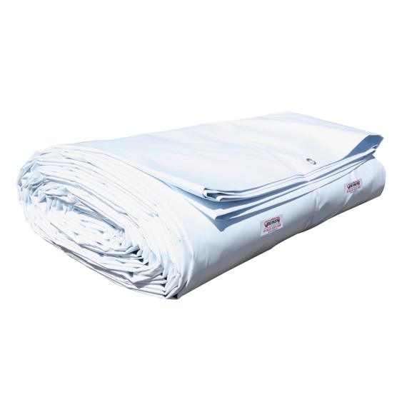 Bâche de wagon neuve blanche 18 x 7,60 m 650 gr / m2