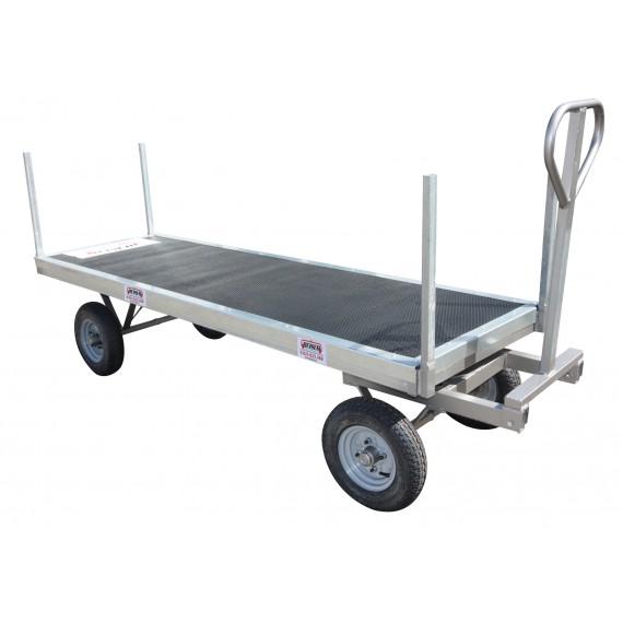 Chariot à fourrage galvanisé avec tapis caoutchouc