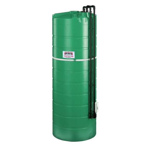 Citerne PEHD verticale double paroi 25000 litres