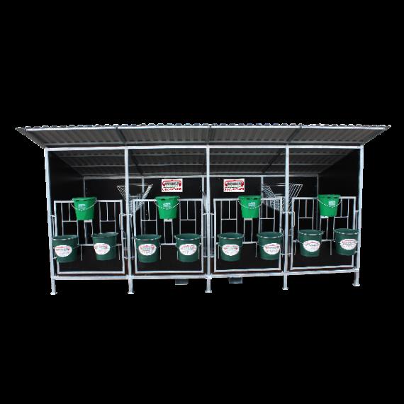 Box à veaux avec toit (quadruple)