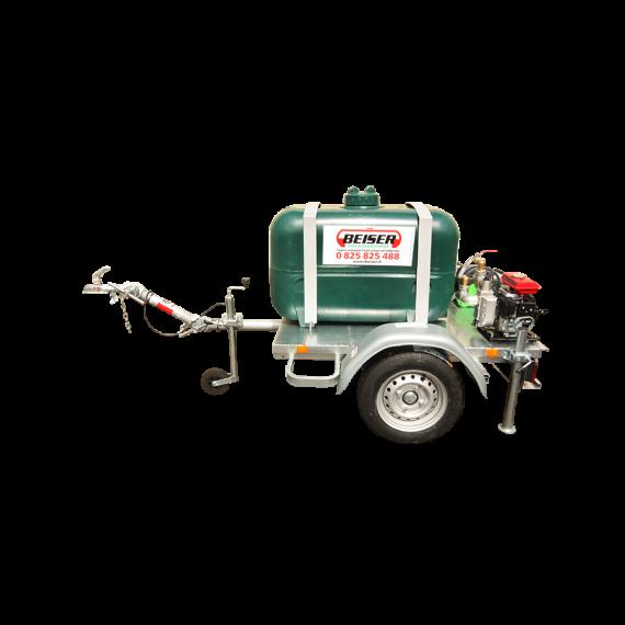 Kit d'arrosage 450L en PEHD sur châssis routier