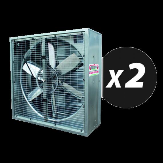 Kit 2 ventilateurs grand volume 122cm X 122cm X 40cm