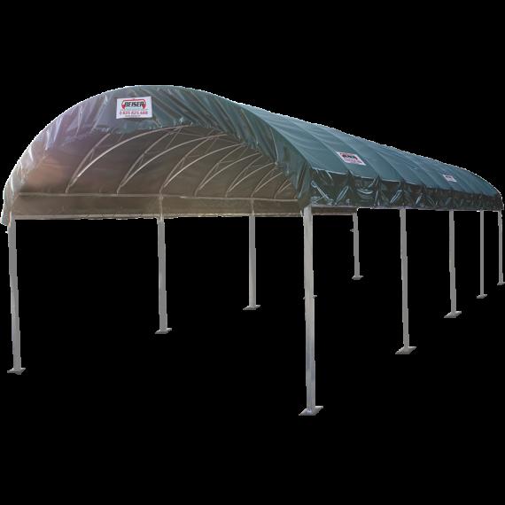Structure modulabri 4 m x 12 m et bâche de couverture
