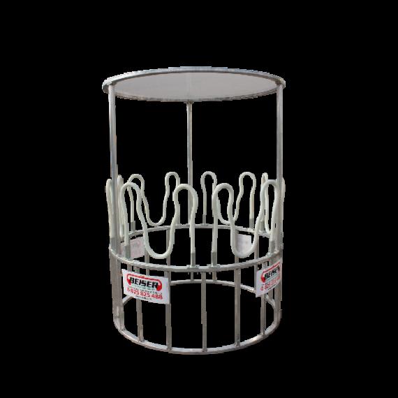Râtelier arceaux circulaire structure aluminium couvert