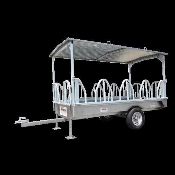 Remorque libre services à arceaux galvanisé 3m 10 places