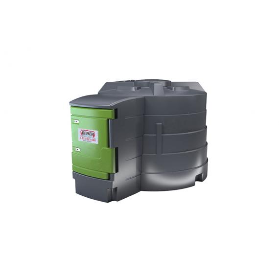 Station fuel verticale double paroi PEHD 2500 litres FM1