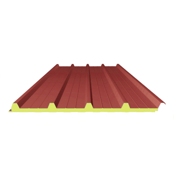 Panneau SANDWICH de TOITURE ROUGE RAL 3009, 3 m 4-250-40