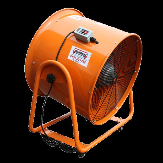 Ventilateur extracteur d'air mobile 700 mm - 380V + Gaine de ventilation 5 m