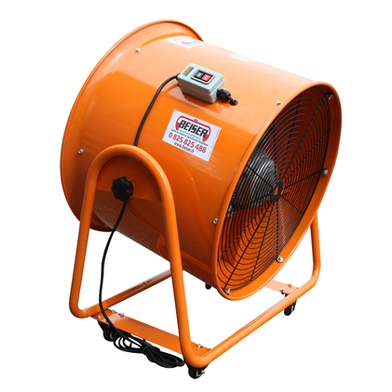 Ventilateur extracteur d'air mobile 700 mm - 380V + Gaine de ventilation 10 m