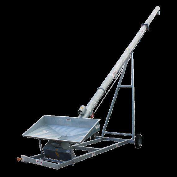 Vis à grains sur chariot 12 m Ø 300