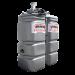 """Beiser Environnement - Station fuel double paroi PEHD sans odeur 2000 L """"modèle Confort"""" avec limiteur de remplissage 2"""" - Point de vue d'ensemble"""