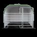Beiser Environnement - Box polyester avec barrière porte Texas 3 m et caillebotis PVC - Face