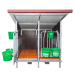 Beiser Environnement - Box à veaux 2 ou 4 places avec toit isolé et parois PVC - Face