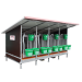 Beiser Environnement - Box à veaux 4 places avec toit isolé + bardage isolé et paroi PVC - Côté