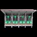 Beiser Environnement - Box à veaux 4 places avec toit isolé + bardage isolé et paroi PVC - Face