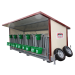 Box à veaux 5 places sur roues avec toit isolé + bardage isolé 40 mm et paroi PVC - Profil