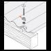 Beiser Environnement - Plaquettes Prélaquées pour Tôle Ondulées, RAL 1015 Jaune Sable, 100 Pièces