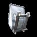 Benne basculante galva articulée sur roulettes 1500 litres - Vue de dessous