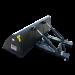 Beiser Environnement  - Godet de chargement hydraulique 1,50 m avec passages de fourches - Vue de dos