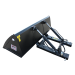 Beiser Environnement  - Godet de chargement hydraulique 1,80 m avec passages de fourches - Vue de dos