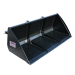 Beiser Environnement  - Godet de chargement hydraulique 1,80 m avec passages de fourches - Vue de face