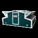 """Bâtiment d'élevage avicole en Kit 11m³ Petit modèle avec portes """"hayon"""" ouvertes"""