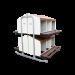 Beiser Environnement - Pondoir sur pied en kit 12 compartiments - Vue de profil