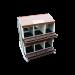 Beiser Environnement - Pondoir sur pied en kit 12 compartiments - Vue de dessus