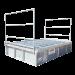 Beiser Environnement - Passage canadien 3m x 2m galvanisé et garde corps