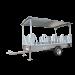 Remorque libre services à arceaux galvanisé 3m 10 places - Vue de profil