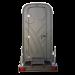 WC mobile sur chassis vue arrière