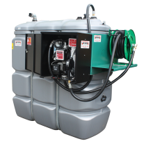 Secured and odourless HDPE double wall fuel station - 750 L  - Model Confort +