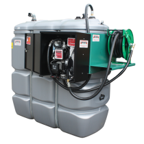 Secured and odourless HDPE double wall fuel station - 2000 L  - Model Confort +