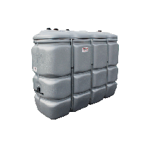 Odourless HDPE double wall fuel tank, 2000 litres - GRAY