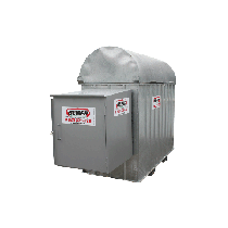 Industrial secure galvanized station fuel with reel 1600 L