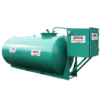 Economical steel fuel station 8000 L, double wall, new norm 2nd generation
