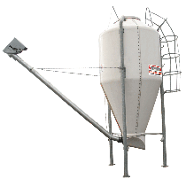 Polyester silo in kit form - 18 m3