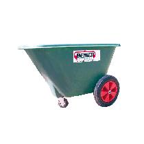 220 L feed trolley in polyethylene, 3 wheels
