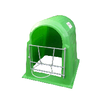 Individual lowest price calf hut (In polyethylene with bucket holder)
