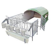 Collective calf hut for 5 calves with pen (economical version)