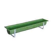 Polyester trough for calf hut
