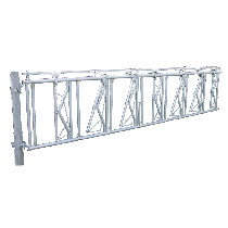 Self-locking feed front barrier with anti-choking system 5 m, 7 animals