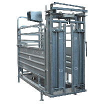 Weighing and crush crate with Satene gate