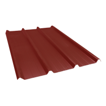 Ribbed sheet 45-333-1000, 60/100, red brown, 7 m