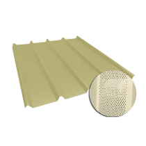 Ribbed sheet 45-333-1000, 60/100, sand yellow perforated, 4.5 m