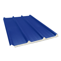 Composite insulated ribbed sheet 45-333-1000 40 mm, slate blue RAL5008, 4 m