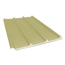 Composite insulated ribbed sheet 45-333-1000 100 mm, sand yellow RAL1015, 4 m