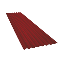 Corrugated sheet 15 waves, red brown RAL8012, thickness 0.60, 8 m