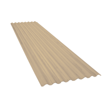 Corrugated sheet 15 waves, sand yellow RAL1015, thickness 0.60, 5.5 m