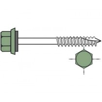 Long self-drilling screw for wooden framework (per 100), 6.5x200, forest green RAL6011